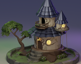 Fairy Tower - LowPoly 3D model