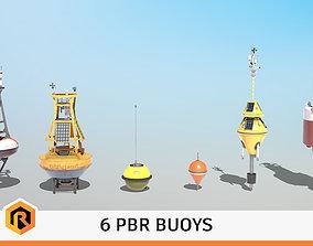 3D model 6 High-quality PBR Ocean Buoys