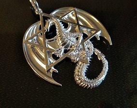 Dragon and star 3D Print Model