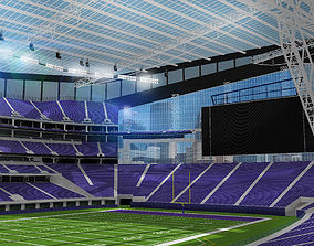 3D model US Bank Stadium - Minnesota