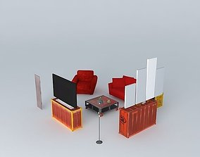 3D The lounge cabin Houses of the world