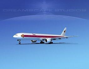 Boeing 777-300 Thai Airways 3D model