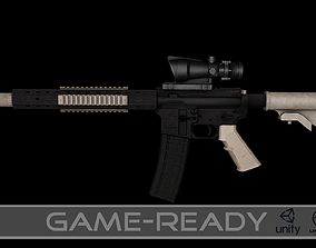 3D asset AR15 Assault Rifle