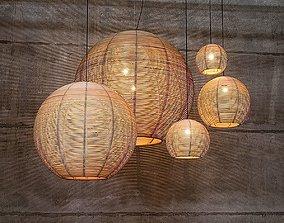 3D model Rattan Lamp