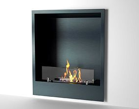 Bioethanol Wall Mounted Fireplace 3D model