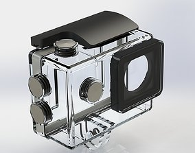 3D action camera with waterproof box to scale