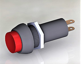 3D Button switch red