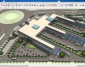 3D model Sketchup bus terminal C3