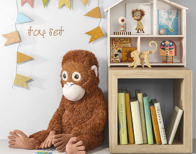 3D model Toys and furniture set 45