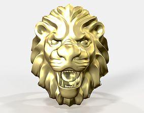 Lion head ring art 3D print model