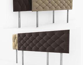 3D cloth Headboard Bed