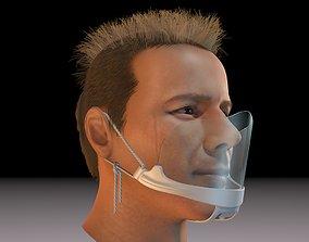 Protective mask 3D print model coronavirus