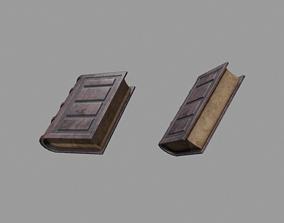 3D asset low-poly Spellbook