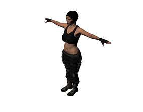 3D model special forces night wolves named Miranda