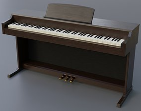 Digital Upright Piano 3D model