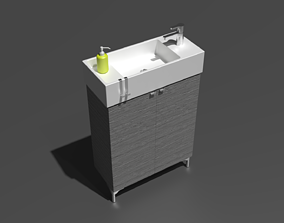 Compact Sink and Vanity 3D model