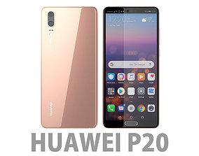Huawei P20 Pink Gold 3D model p10