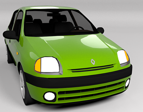 3D asset RENAULT CLIO 1999 LOWPOLY