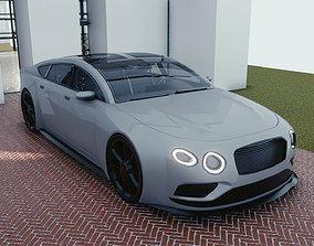 3D asset BLENDER EEVEE Brandless Mid Size 4 door coupe