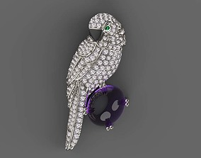 3D print model brooch panthere