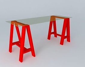Desk red 3D model