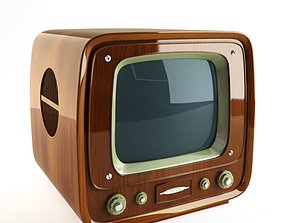 Retro Wooden Tv 3D model