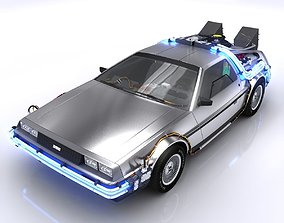 3D asset DeLorean Time Machine