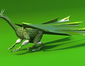 rearing dragon 3D model