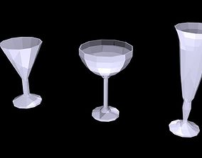 3D model Low poly glasses 1