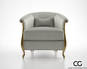 3D Christopher Guy Greta armchair