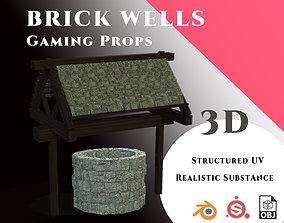 Gamin Prop - Brick Well Set 3D asset game-ready