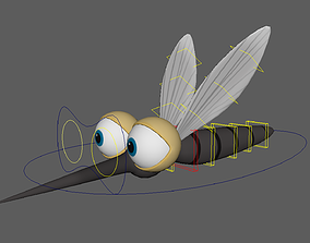 Asset - Cartoons - Animal - Insect - Mosquito - Rig 3D