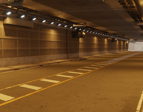 3D PBR Modular Road Tunnel Assets