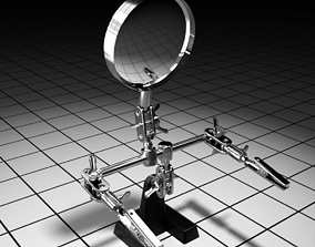 Magnifying glass 3D model game-ready PBR