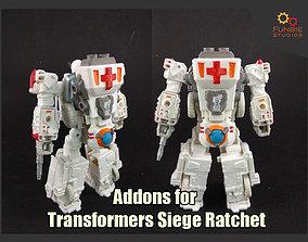 Addons Set for Transformers Siege Ratchet 3D print model