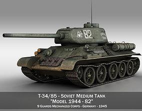 3D model T-34 85 - Soviet medium tank - 82