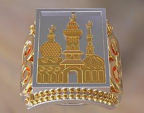 3D printable model Man ring muslim mosque