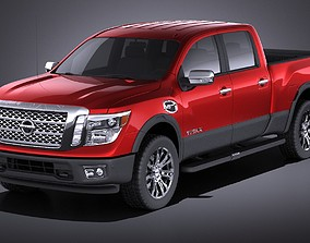 3D model Nissan Titan 2018 VRAY