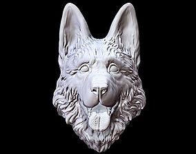 3D printable model Shepherd German Dog head happy
