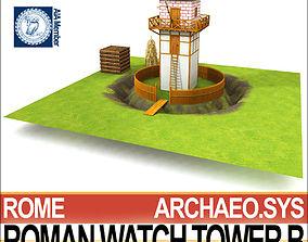 Roman Watch Tower B 3D