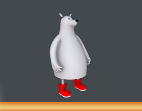 Polar Bear Cartoon 3D model