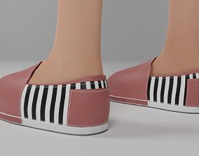 Shoes character 3D model
