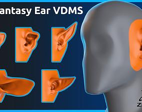 15 Zbrush Fantasy Ear Vdms 3D model