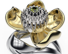 Ring Water Lily 3D print model