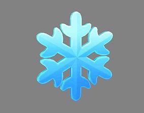 3D model Cartoon Snowflake