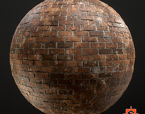 Old Victorian Brickwall Material - Substance 3D model