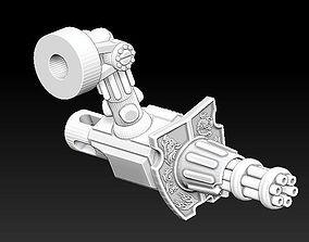 3D print model The GATLING CANNON Weapon set 5 Gladiator