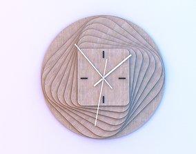 Parametric wood Clock 3D model