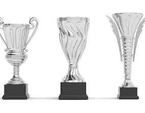 Cups Trophy 3D model gold
