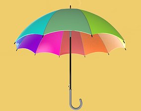 3D COLORFUL UMBRELLA